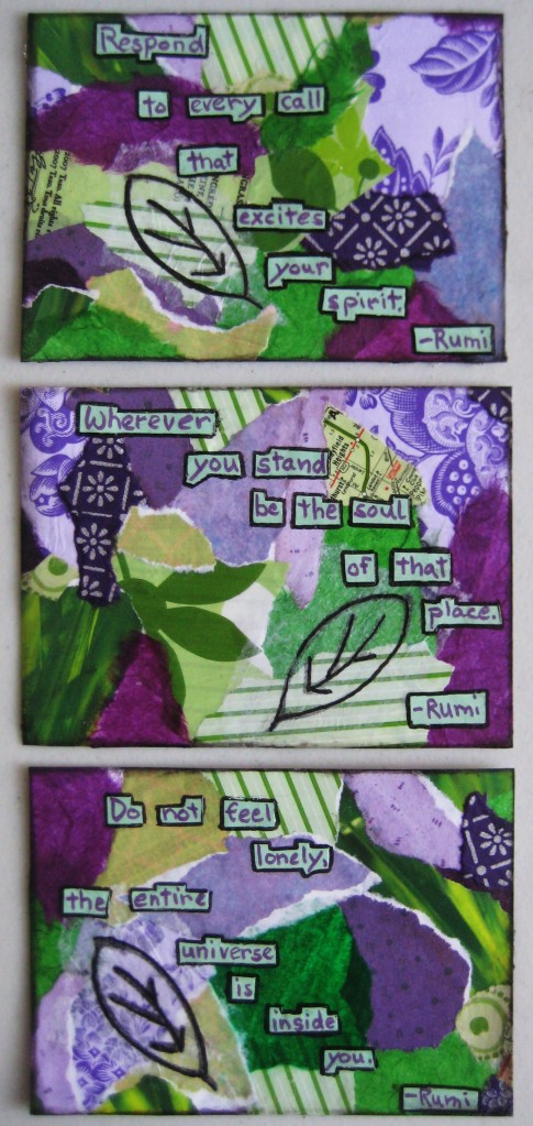MMSA postcard swap--purple/green