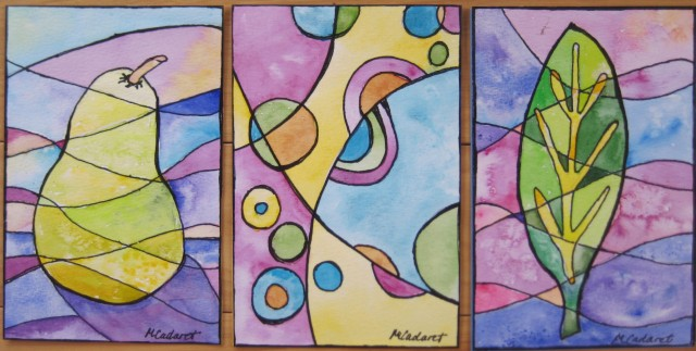 MMSA watercolor postcards