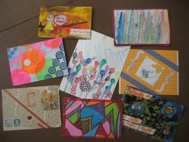 Postcards received in the IHanna DIY swap 2014.